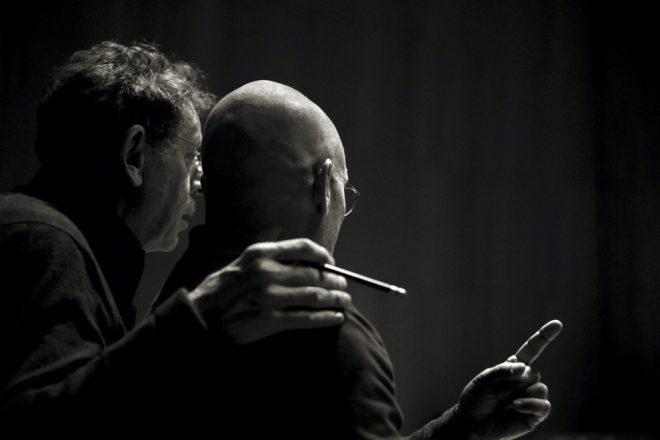 Dennis Russel Davies and Philip Glass Rehearsals New York © Andreas H. Bitesnich